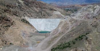 Şenkaya Sarıyar Barajı'nda çalışmalar devam ediyor