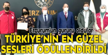 Türkiye'nin en güzel sesleri ödüllendirildi