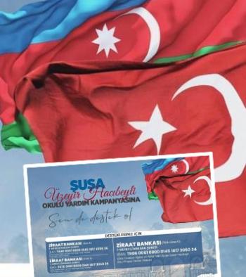 Ülkü Ocakları'ndan Azerbaycan'a okul için yardım kampanyası