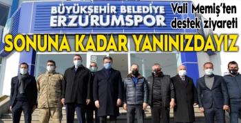 Vali Memiş BB Erzurumspor kulüp tesislerini ziyaret etti