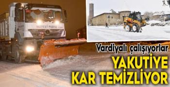 Yakutiye Belediyesi kar temizliğini sürdürüyor