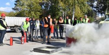 Yakutiye Belediyesi personelleri iş sağlığı ve güvenliği eğitiminden geçti
