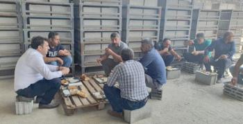 Yaşar'dan sahada çalışan personellere ziyaret