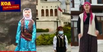 Yöresel kıyafetlerle 23 Nisan mesajı