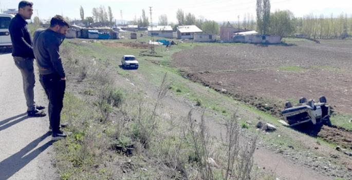 Pasinler'de trafik kazası: 1 yaralı