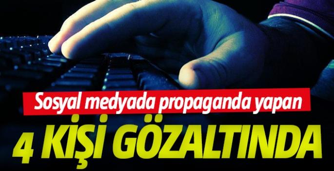 Sosyal medyada örgüt propagandasına gözaltı